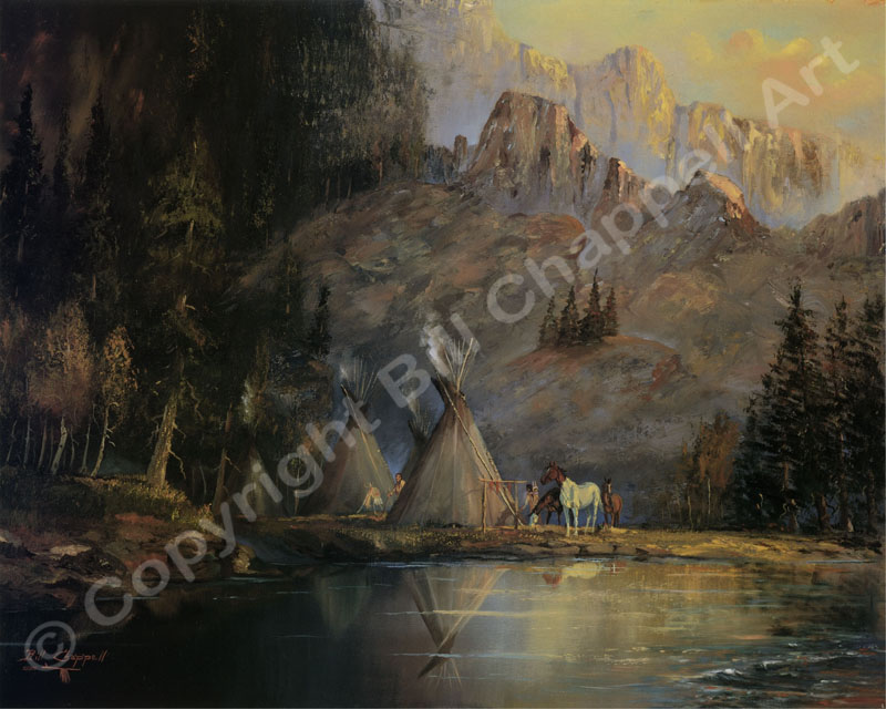 Palisade Indian Camp (Giclee Print)