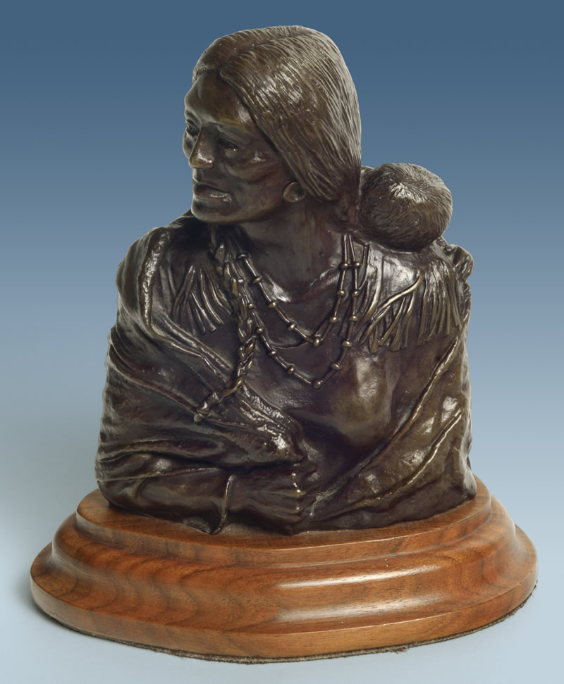 Squaw and Chief (Bronze)